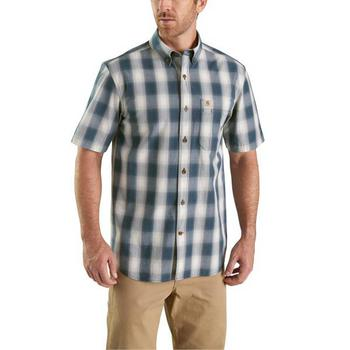 Carhartt Men's Essential Plaid Button Down Short Sleeve Shirt #103550